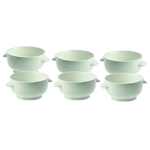 La Porcellana Bianca Terrine Soup Bowl, Set of 6, 6.25