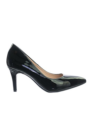 Sole Pump Comfort Patent High Classified Memory Inner Cushioned Black Super Medium Pointy City Coen h Heel Foam Toe qBZSYWU