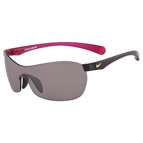 Nike EV0747-605 EXCELLERATE E Sunglasses (One Size), Deep Burgundy/Fuchsia Flash, Max Speed Tint - Nike Glasses Cheap