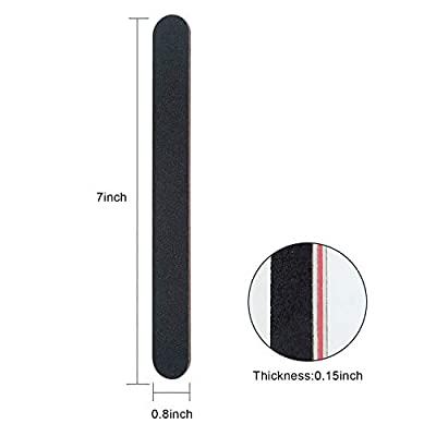 Nail File 10 PCS Professional Double Sided 100/180 Grit Nail Files Emery Board Black Manicure Pedicure Tool and Nail Buffering Files