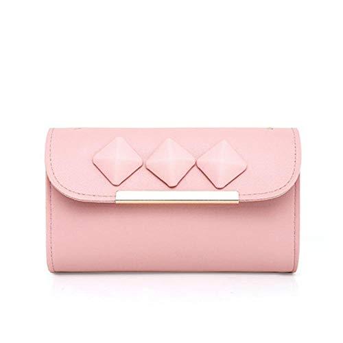 3 bandoulière Sac ANLEI à 6 pièces Couleurs Mlle à Sac Portefeuille Mode Pink Main PU wqqR48vxY