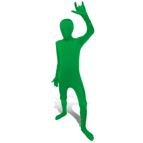 Most Original Halloween Costumes (Green Original Kids Morphsuit Costume - size Medium 3'7-4'0 (108cm-122cm))
