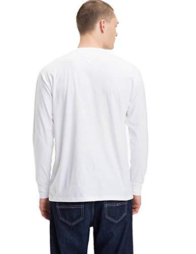 Blanc L'homme T Manches Jeans Petit Courtes Shirt Tommy qzt7x0w