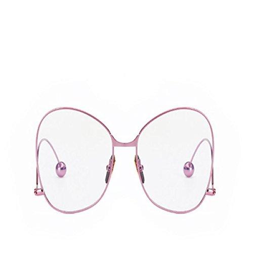 Femmes Marée Lunettes Dames Individualité Miroir Plat Fille Métal Cadre Hommes Tempérament Miroir Plat Couple Lunettes,A4 A4