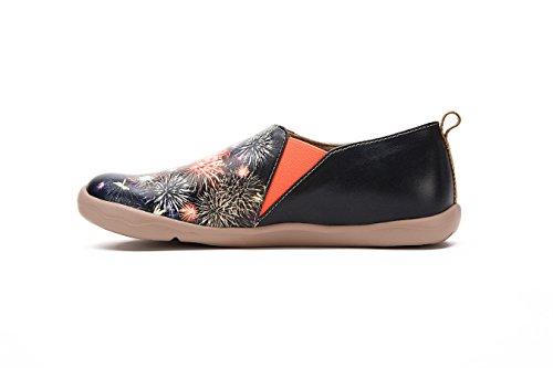 Uin Des Femmes De Feu Dartifice Glissement Sur Microfibre Confort Des Chaussures Noires