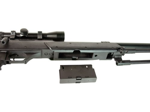 BBTac MB06 SR-2 Tactical Airsoft Sniper Rifle with 3-9x32 Scope & Bipod AWP 500 fps Bolt Action Metal Spring Gun