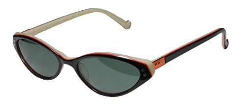 Ogi 8045 Womens/Ladies Cat Eye Full-rim 100% UVA & UVB Lenses Sunglasses/Sun Glasses (53-17-140, Black / Copper / - Ogi Sunglasses