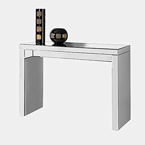 (Mirrored Console Table - Rectangular Console Table - Mirror )