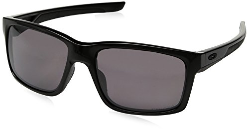 Oakley Men's Mainlink Non Iridium Rectangular Sunglasses, Polished Black Wprizm Daily Polarized, 57 Mm