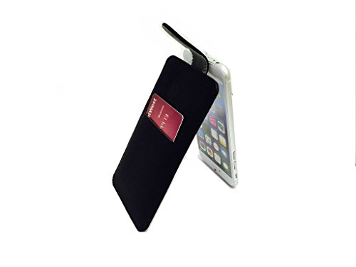 High Quality Iphone 6 plus Ultra-Soft Genuine Leather Pull Up Tab Case Cover Pouch Sleeve with Card Slot for Apple Iphone 6 plus by G4GADGET®