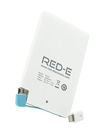 Amazon.com: Red-E 2500 mAh Power Bank Cargador portátil para ...