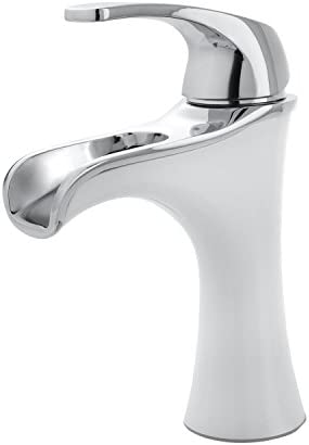Pfister F042JDCW Jaida Single Control 4 Centerset Bathroom Faucet, Polished Chrome White
