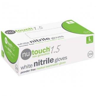 Nutouch 1.5 Latex Powder Free Textured Exam Gloves Medium