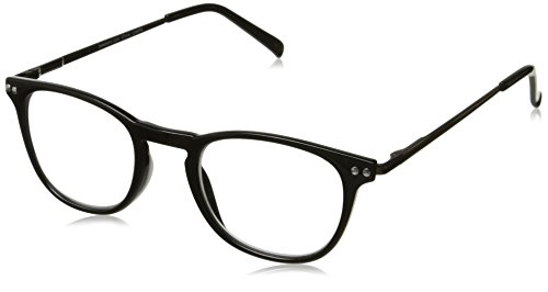 Peepers Men's All Business 2275150 Oval Reading Glasses, Black, 1.5 by Peepers