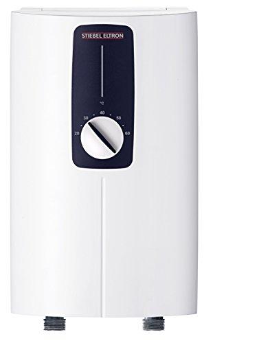 Stiebel Eltron DCE 11/13 H, elektronisch geregelter Kompakt-Durchlauferhitzer, wählbare Leistung 11 oder 13,5 kW, weiß, 232792