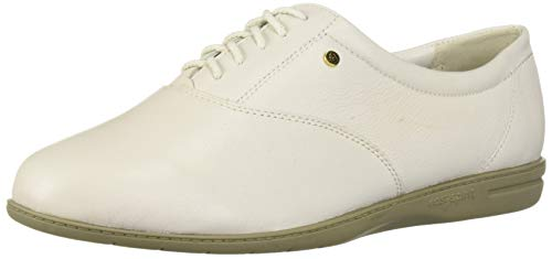 Easy Spirit Women's ESMOTION8 Oxford Flat, White, 9 M US]()