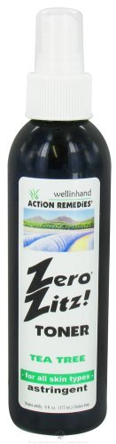 Zero Zitz Astringent (Well In Hand Zero Zitz Toner Tea Tree Astringent -- 6 fl oz by Well In Hand)