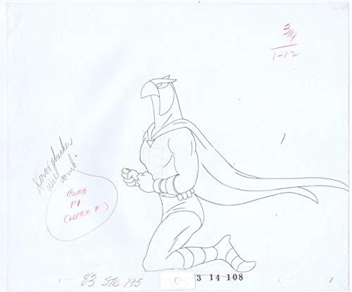 (Blue Falcon 2 Production Animation Pencil Original Art 83 STK 195 83 14 108 11-B)