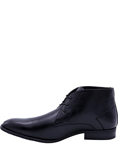 Faranzi Mens 3 Eyelet Chukka Shoes,Black,7 Black