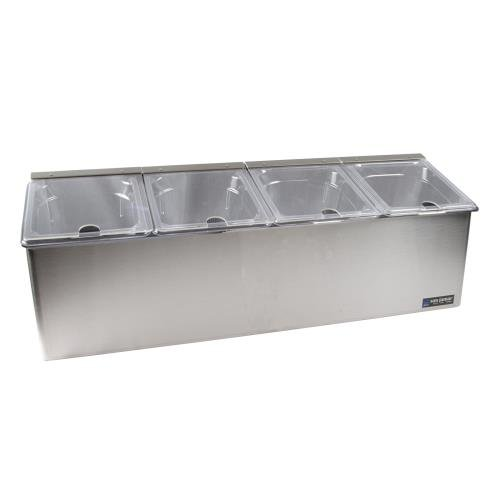 San Jamar FP8245NL EZ-Chill Stainless Steel Self-Service Center with Notched Flex Lid
