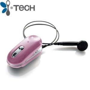 iTECH Clip IIe Bluetooth Headset, Pink