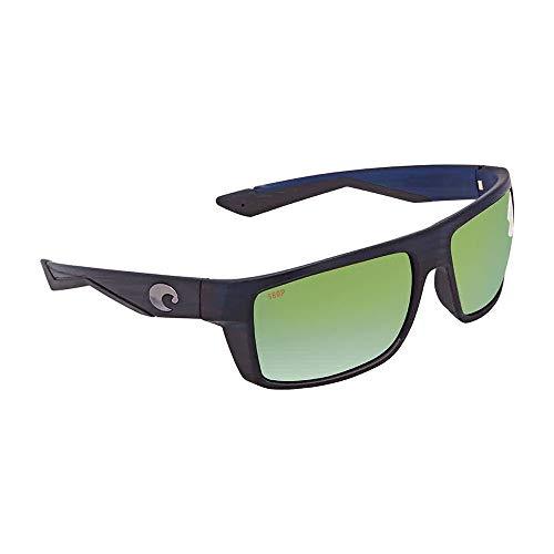 Costa Del Mar Motu 580P Motu, Matte Black Teak Green Mirror, Green Mirror