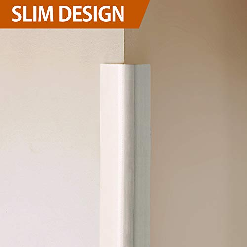 Wall Guard - Baby Mate NGW New Generation 20' ft Baby Proofing Wall Edge Protector (Beige/White) - Wall Corner Guards Foam Edge Bumpers Furniture Edge and Corner Guards - Edge Cushion Baby Safety Edge Guards