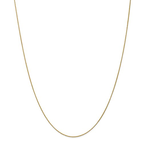 ICE CARATS 14k Yellow Gold .7mm Baby Parisian Link Wheat Chain Necklace 18 Inch Spiga Fine Jewelry Gift Set For Women Heart by ICE CARATS