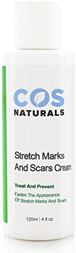 COS Naturals ANTI STRETCH MARK AND SCAR CREAM Natural Organic TREAT & PREVENT Body Moisturizer With Peptides Vitamin C B E Hyaluronic Acid Best For Pregnancy 4 Oz. (Even Stretch Mark)