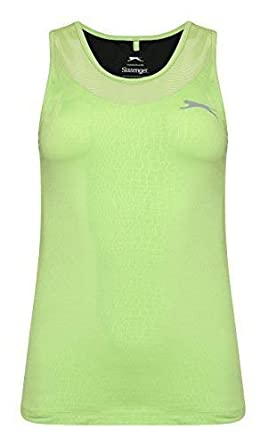 5c0bf10555 Ladies Ultralite Gym Running Tank Sleeveless Vest Racer Action Back Tops  (8, Lime)