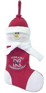 Nebraska Cornhuskers 22 Snowman Stocking (Snowman Christmas Stocking 22)