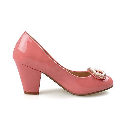 formelle à en Pêche caoutchouc enfiler femme Perle shoes 1TO9 Pumps wqPxFOI55