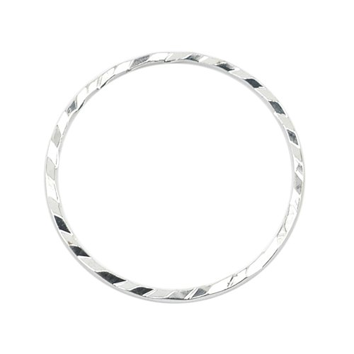 Cut Diamond Wire - Artistic Wire Beadalon Quick Links Round 20mm Diamond Cut Silver, Plated, 10-Piece
