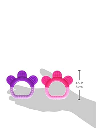 chew pink set Dishwasher Safe Easy to Hold Multiple Textures Massage Gums 2 Pack Gum | Soothes Gums /& Promotes Healthy Oral Development green sprouts 222391-905-33 Silicone Teethers Pink Set