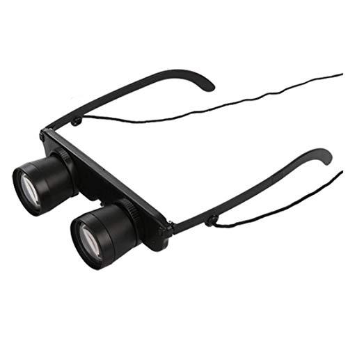 S-Sport-Life - Schwarz 3x28 Brille Vergroesserungsglas Lupenbrille Brillenlupe Glaeser Stil Angel Reise Fernglas Theater Lup Fisch Optics Fer (Stil Brille)