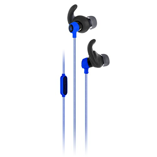 JBL Reflect Mini In-Ear Headphones 3.5mm Stereo Wired Sweatproof Earbud with 1 Button Remote and Mic (Blue)