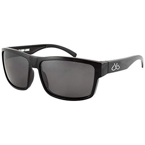 Filthy Anglers Ames Polarized Fishing Sunglasses Black Frame Smoked Lens
