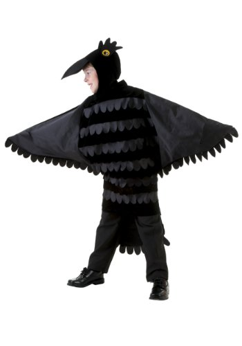 Crow Costume Wings (Big Boys' Child Crow Costume Small)