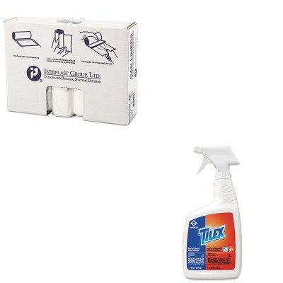 KITCOX35600EAIBSS334016N - Value Kit - Clorox Disinfects Instant Mildew Remover (COX35600EA) and IBS S334016N High Density Interleaved Commercial Coreless Roll Can Liners, Natural ()