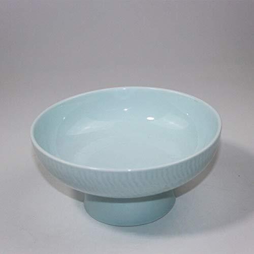 Bowl Planter - Japanese Style Flower Arrangement Flowerpot Creative Celadon High Foot Flower Pot Vase Fruit Bowl Ceramic Planters Wedding - Vase Ceramic Celadon