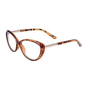 Agstum Womens Cat eye Glasses Frame Optical Eyeglasses Clear lens (Tortoise shell, 56)