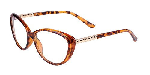 Agstum Womens Cat eye Glasses Frame Optical Eyeglasses Clear lens (Tortoise shell, 56)