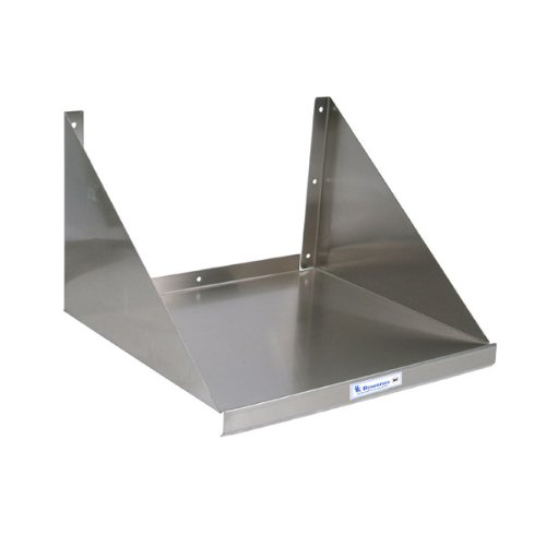 Stainless Steel Kitchen Microwave Wall Shelf by KegWorks