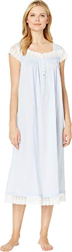 Eileen West Women's Cotton Woven Lawn Ballet Cap Sleeve Nightgown Solid Light Perri X-Small