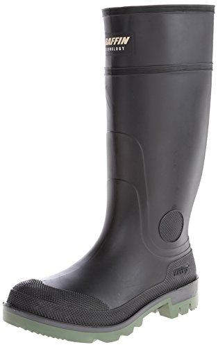 Baffin Men's Enduro PT Rain Boot,Black/Clear/Green,10 M US ()
