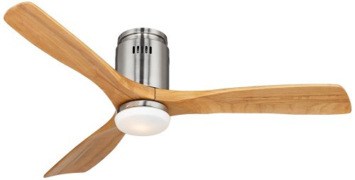 "52"" Possini Euro Contemplate Admiralty Brushed Nickel Ceiling Fan"