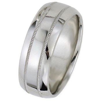 Wedding Bands; Platinum Men`s and Women`s Dome Park Ave Wedding Bands 10mm Wide Comfort Fit