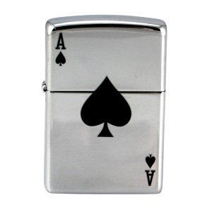 - Zippo Lucky Ace of Spade High Polish Chrome Lighter (Set of 6)