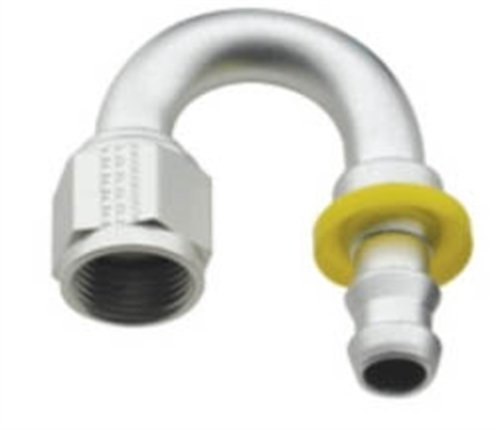 Fragola 8000 Series Push-Lite 180 Degree Hose End, -12 AN - Clear Fragola Performance Systems