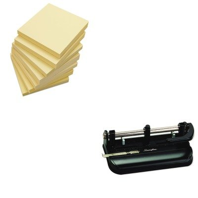 KITSWI74350UNV35668 - Value Kit - Swingline 32-Sheet Lever Handle Two- to Seven-Hole Punch (SWI74350) and Universal Standard Self-Stick Notes (UNV35668)